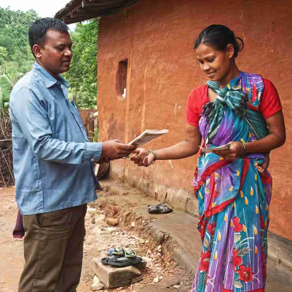 Pastor Chintan, a GFA pastor, visited Tavleen with the message of hope