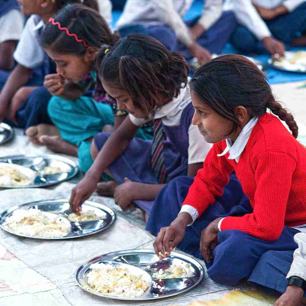 At the Bridge of Hope center, each child receives a healthy, balanced meal.
