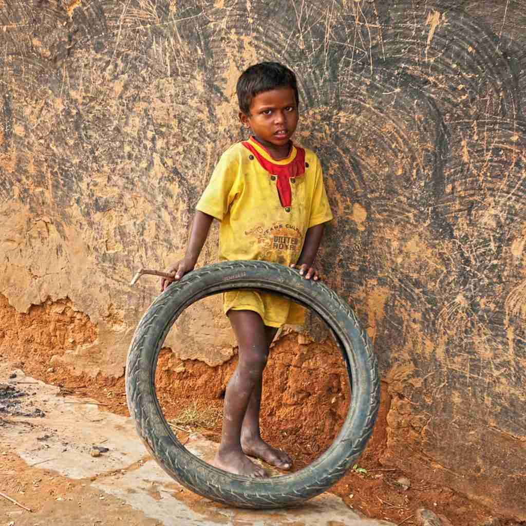 Many young children like this boy missed receiving an education due to poverty
