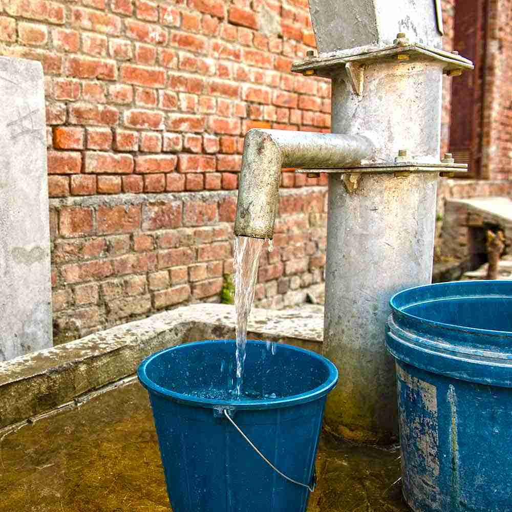 This Jesus Well provides clean water to the village community