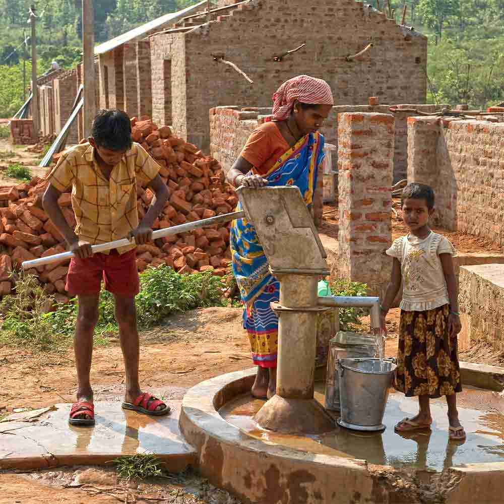 The village community enjoys access to drinking water through the GFA Jesus Well clean water project